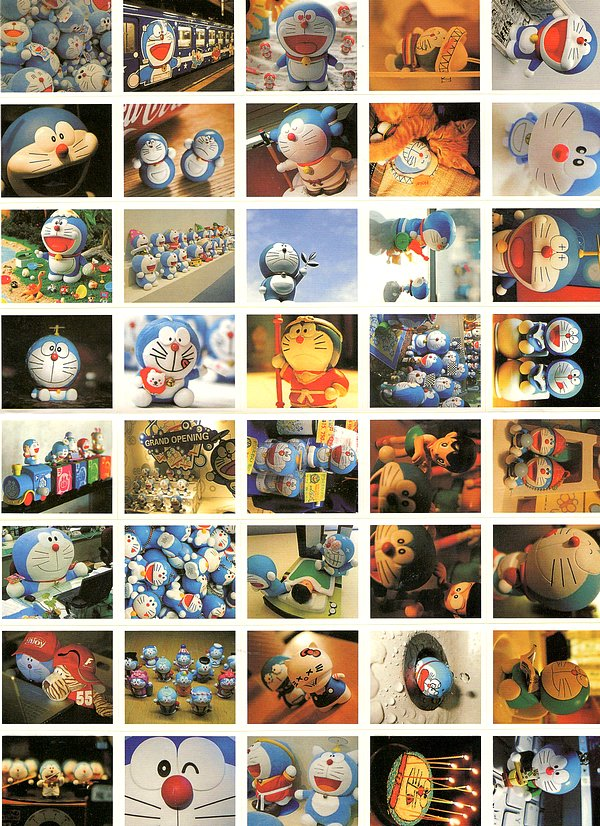 40 gros Stickers-photos de Chat Kawaï