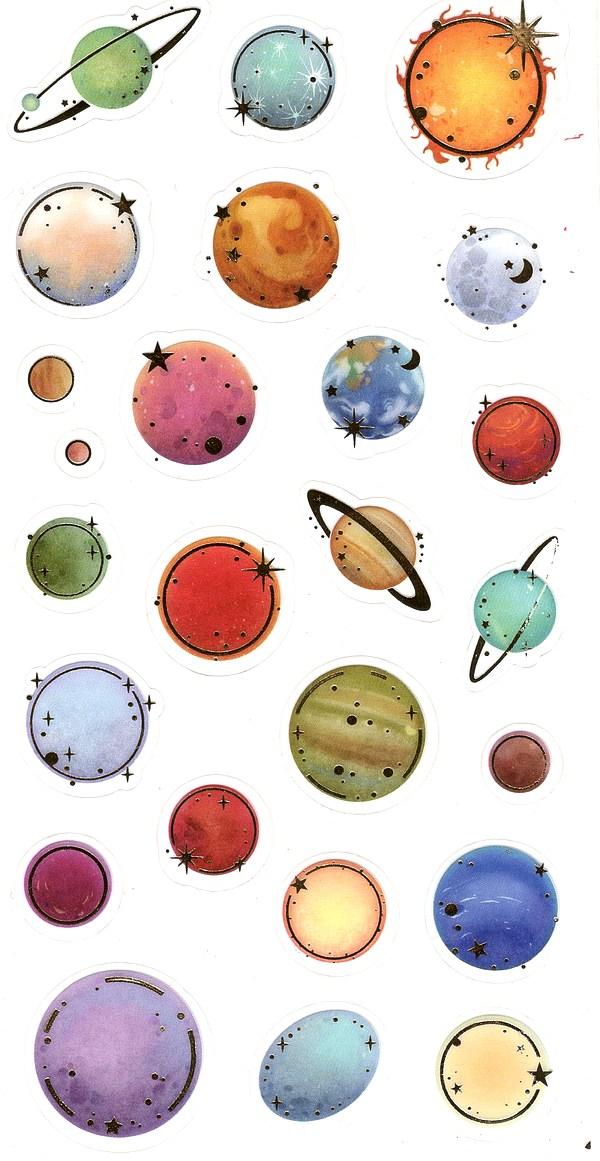 25 gommettes Planètes