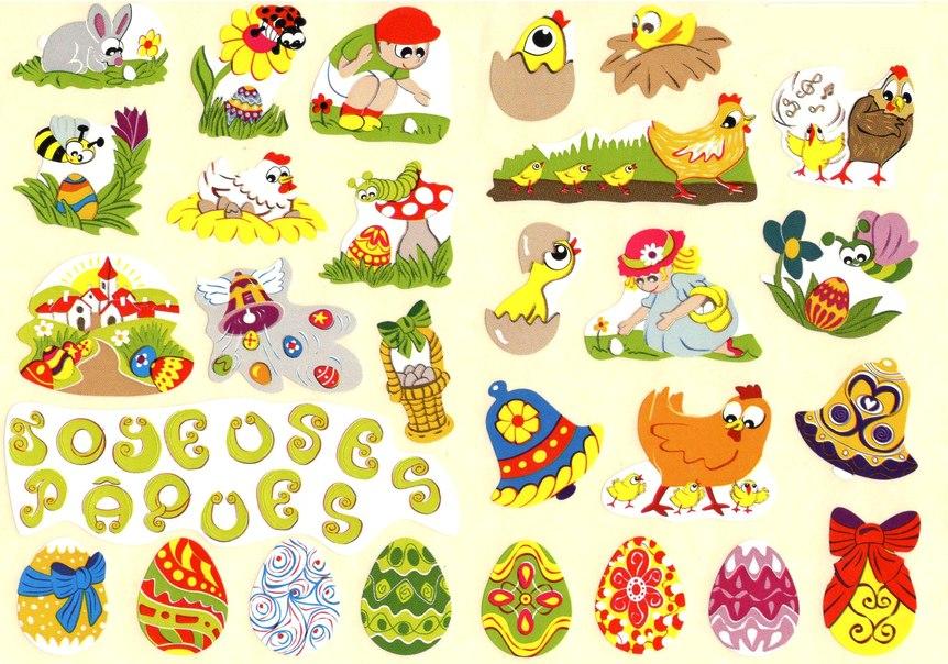 28 gommettes de Pâques