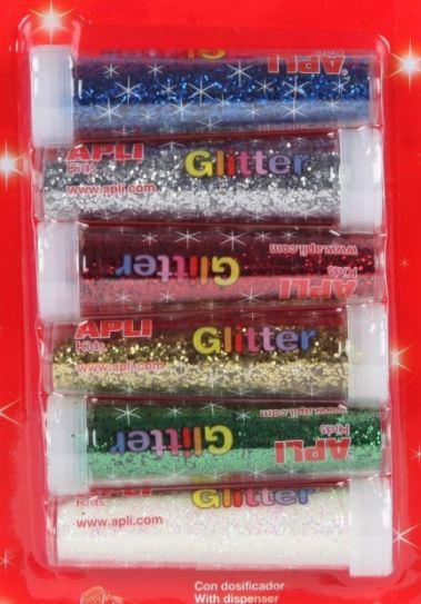 6 tubes de paillettes à coller