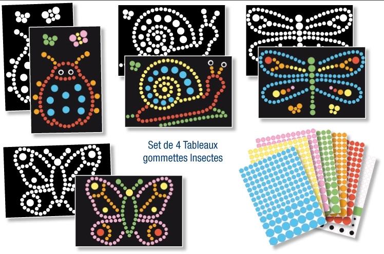 4 tableaux à décorer - Insectes