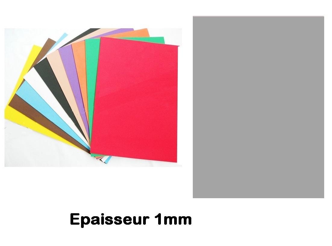 Feuille mousse EVA 1 mm 24 x 24 cm Gris Souris