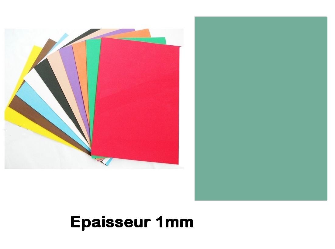 Feuille mousse EVA 1 mm 24 x 24 cm Vert d\'eau