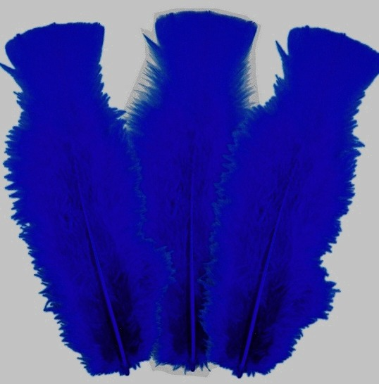 10 plumes Bleu foncé 5 à 10 cm