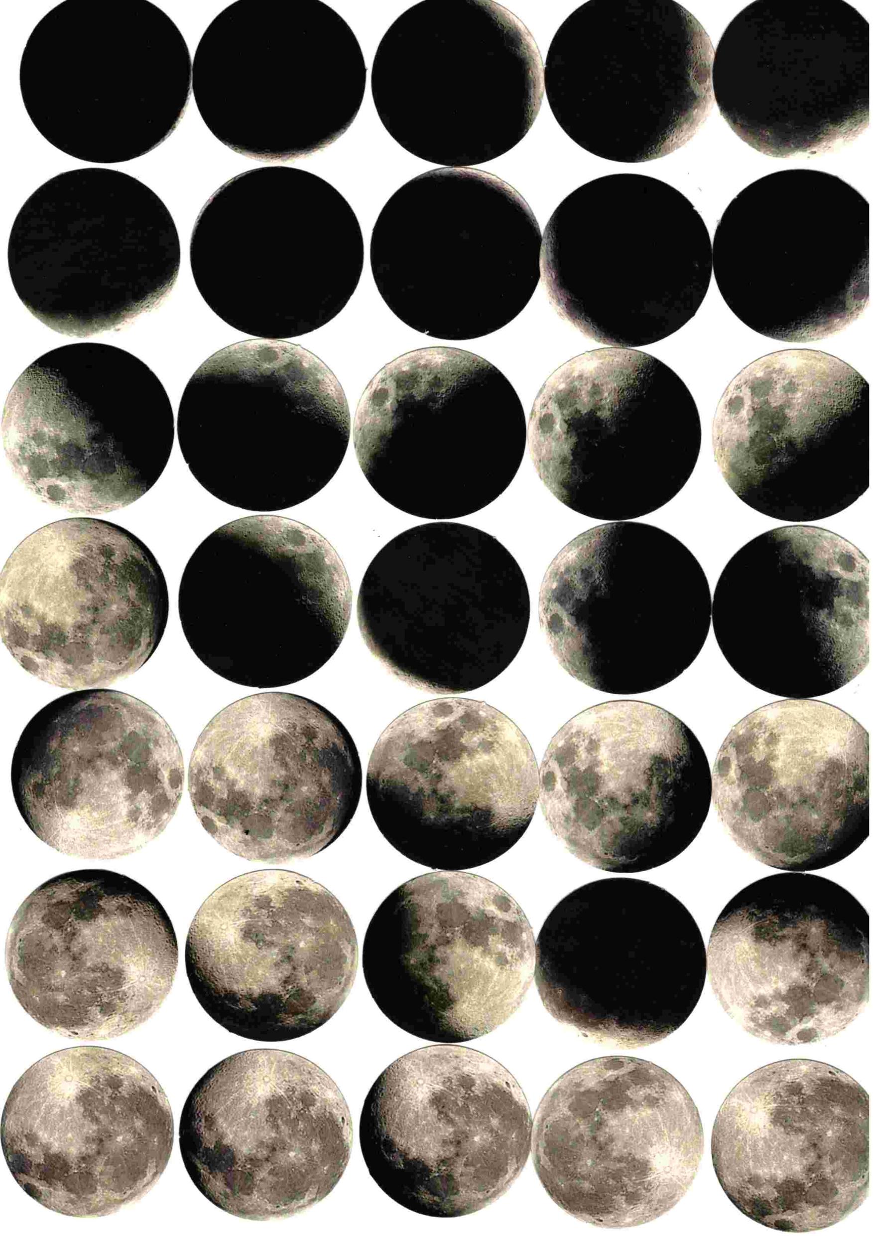 Boite de 47 Stickers Lune