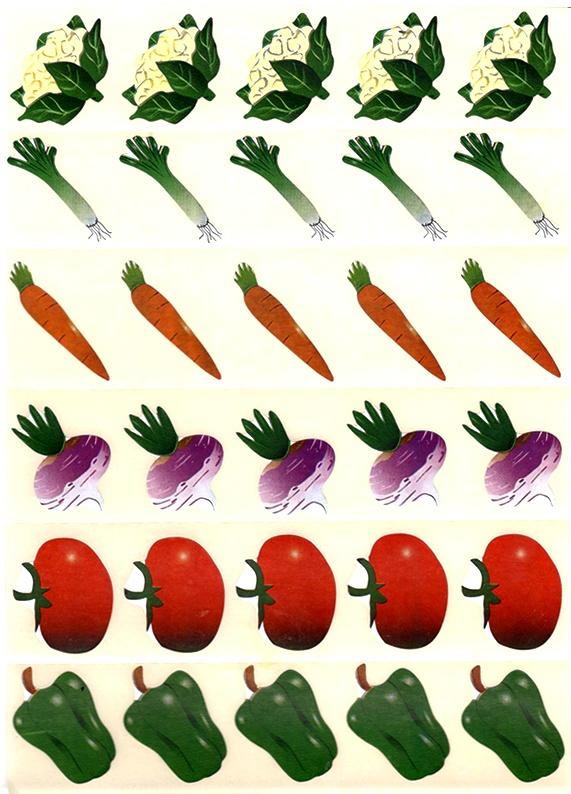 30 gommettes Légumes
