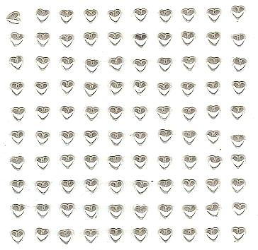 100 strass Coeurs blanc nacré en résine époxy 5 mm
