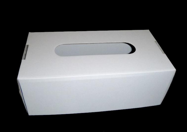 Emballage de boite à mouchoirs en carton à décorer