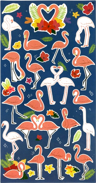 30 stickers Flamands Roses