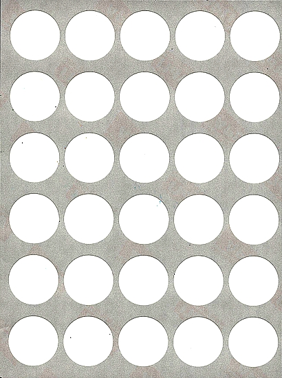 30 gommettes rondes 19 mm blanches