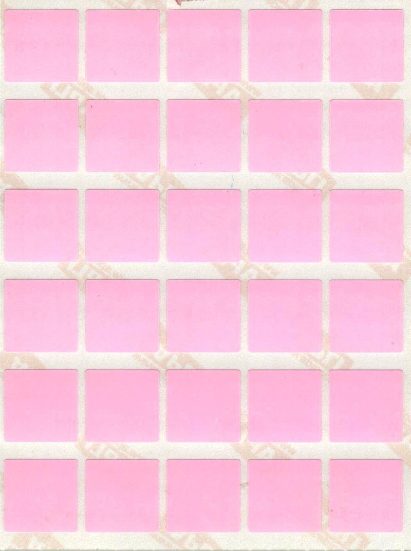 30 gommettes carrées 2 cm X 2 cm Roses
