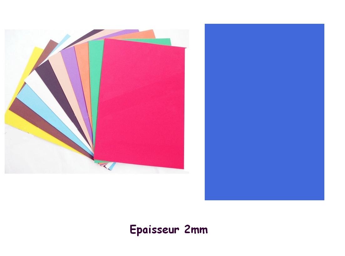 Feuille mousse EVA 1 mm 24 cm X 24 cm Bleu foncé