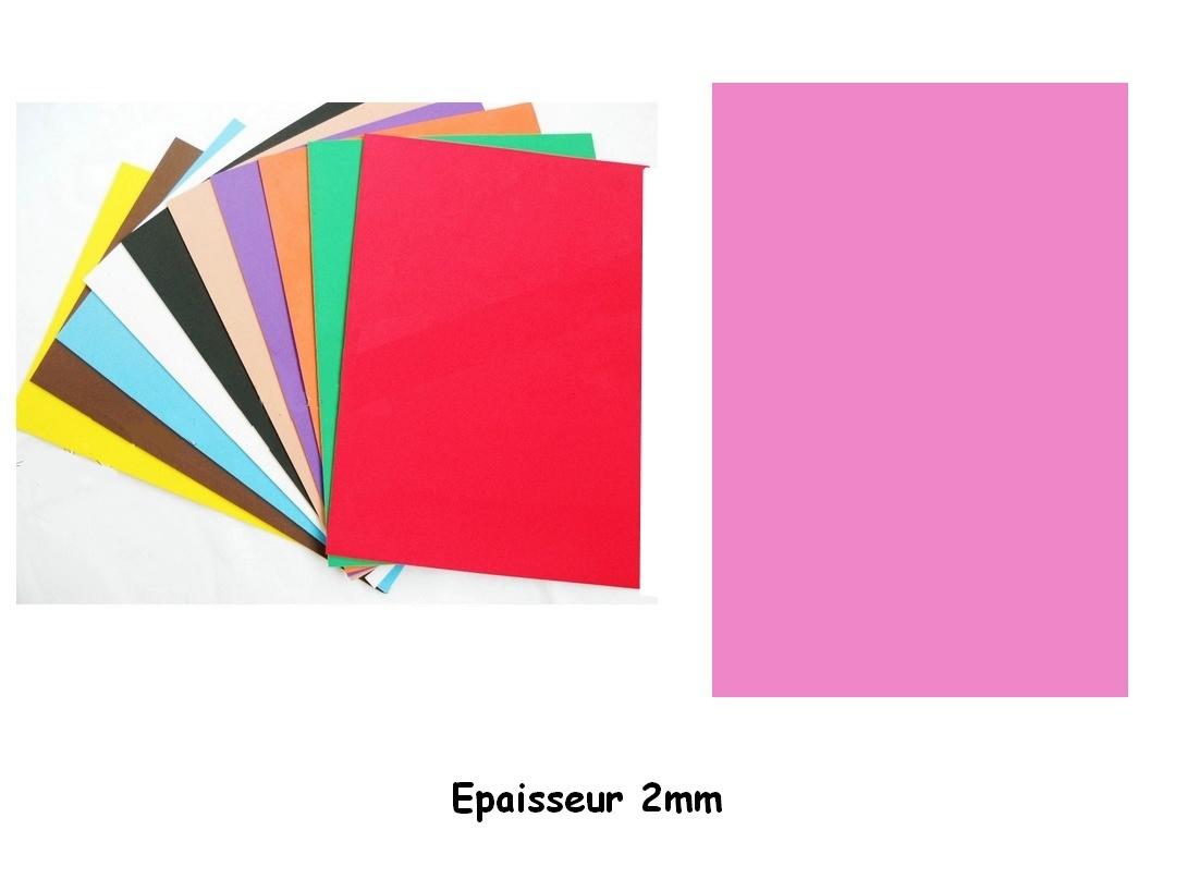 Feuille mousse EVA A4 2 mm Rose bonbon