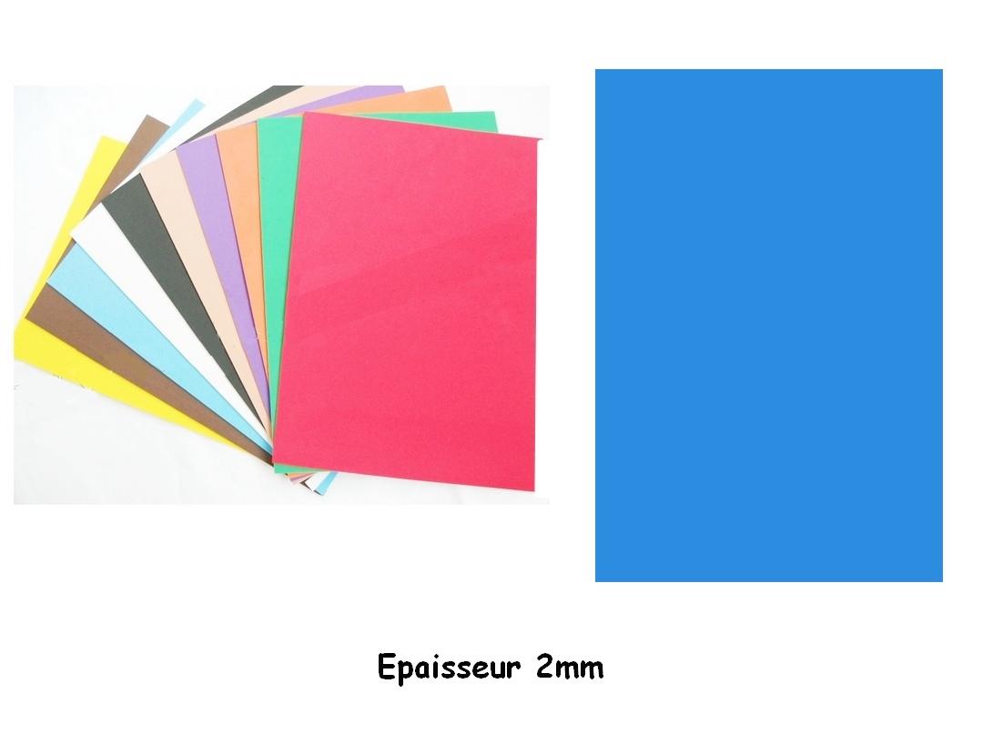Feuille Mousse EVA A4 2 mm Bleu moyen