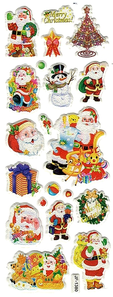 17 gommettes de Noël