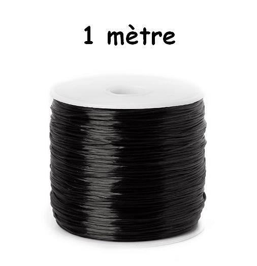 1 mètre de Fil élastique Noir 1 mm de diamètre