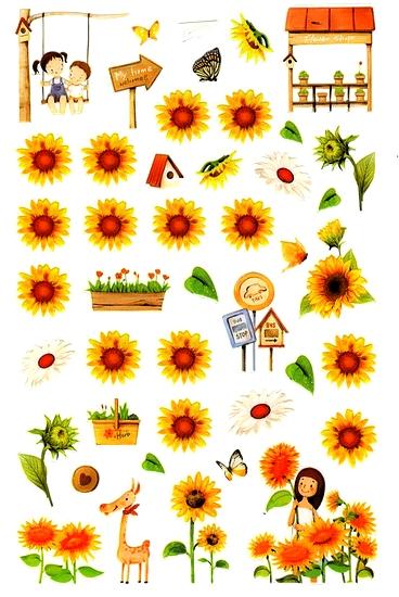 44 Stickers Le Jardin aux Tournesols
