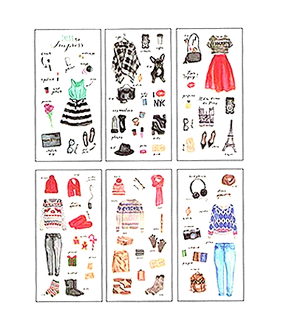 Lot  6 planches de Stickers Dressing de fille