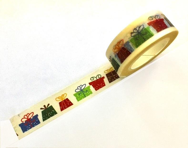 Masking Tape Cadeaux colorés