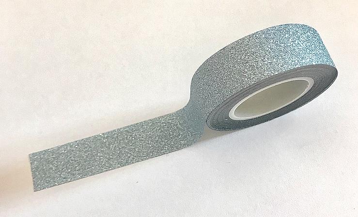 Masking Tape pailleté Bleu Clair