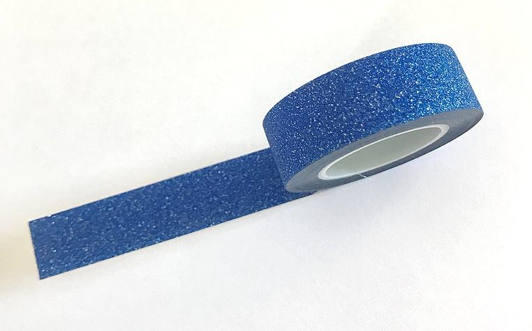 Masking Tape pailleté Bleu Foncé