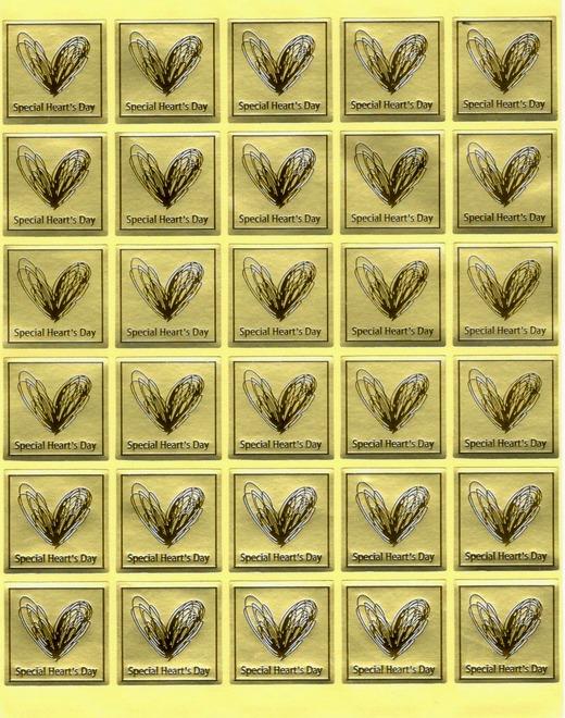 Étiquettes dorées Special Heart\'s Day