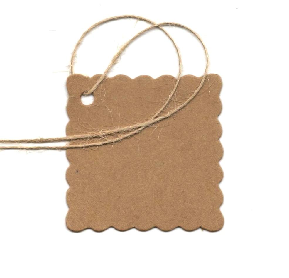 10 étiquettes cadeau en kraft à personnaliser