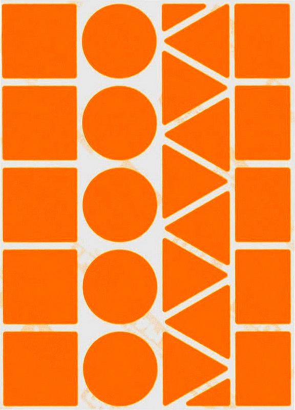 23 Grosses Gommettes Géométriques Oranges