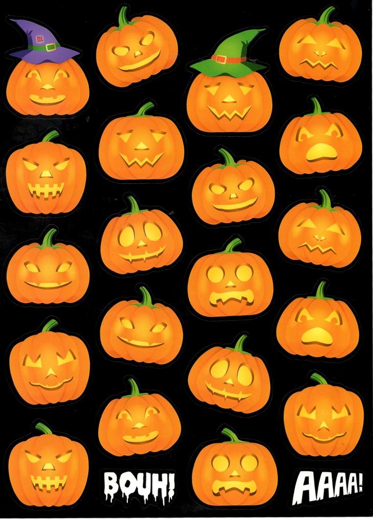 20 gommettes Citrouilles d\'Halloween