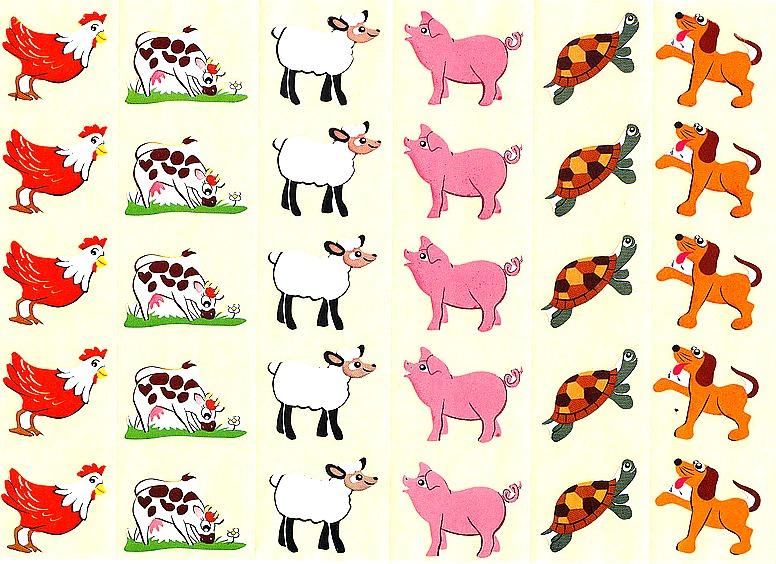 Gommettes animaux de la ferme 1
