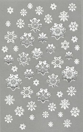 52 Stickers Flocons de neige en gel époxy 3D
