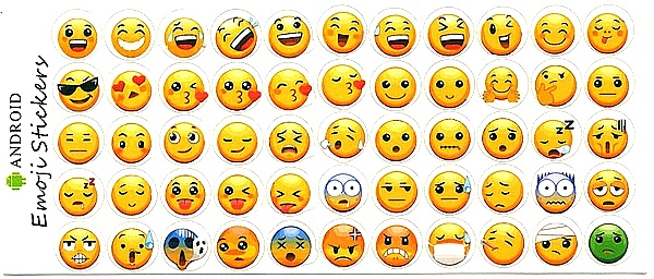 55 Stickers Smileys Basics