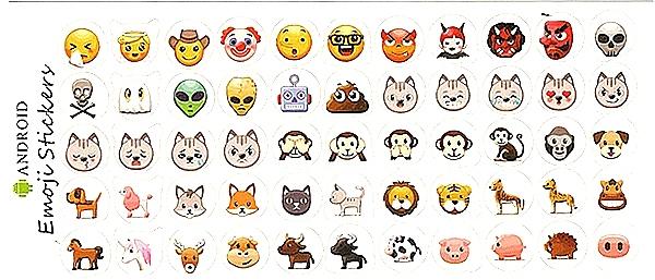 55 Gommettes Smileys Émoticônes tous différents