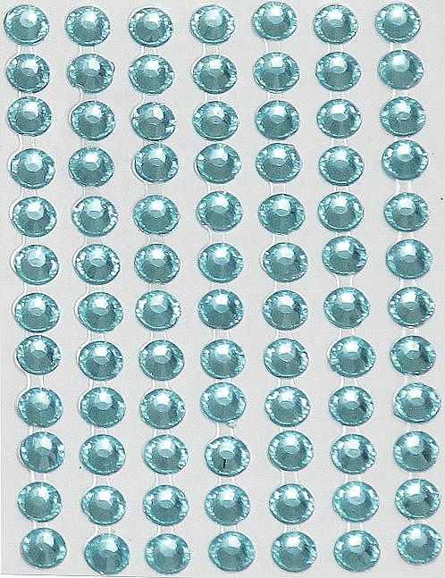 84 Strass Autocollants Bleu pâle