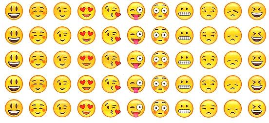 55 Gommettes Smileys Courants (11 différents)