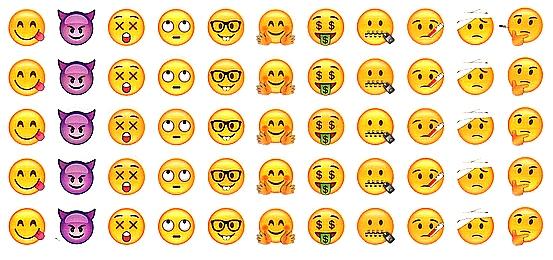 55 Gommettes Smileys Émotions plus rares