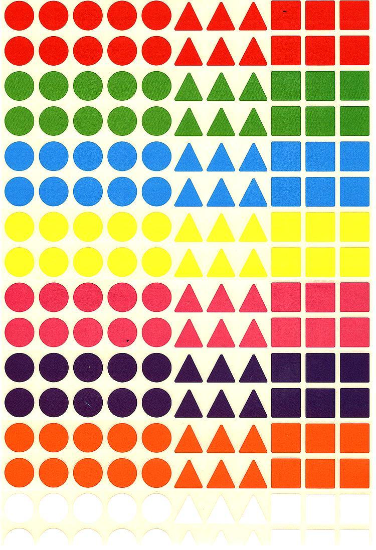 176 gommettes géométriques multi couleurs multi formes
