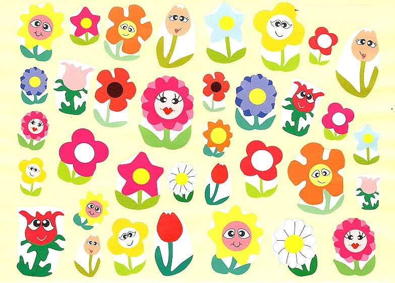 35 Gommettes Fleurs mignonnes