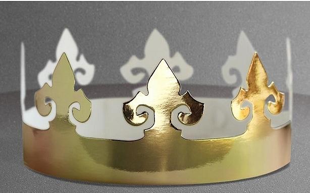 Couronne des Rois en carton doré à décorer