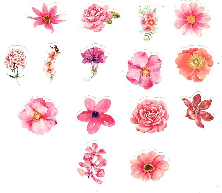 Stickers Fleurs Kawaï
