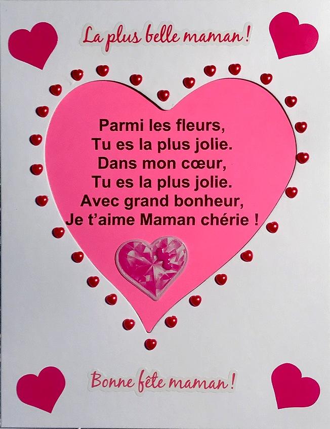 Kit Carte Fete Des Mamans En Gommettes Et Cadre Coeur Loisirs Creatifs Fete Des Meres Fete Des Peres Magommette
