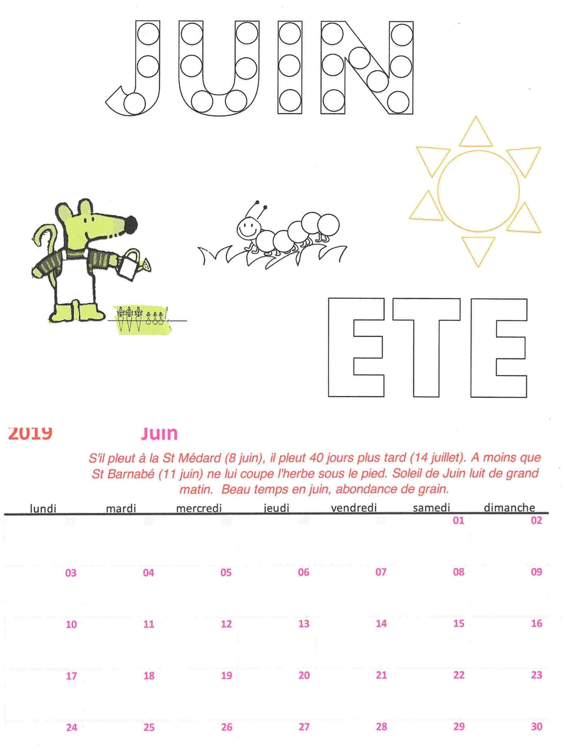 Calendrier Mensuel Juin 2019.Calendrier Mensuel Juin 2020 Calendrier 2020 Modeltreindagen