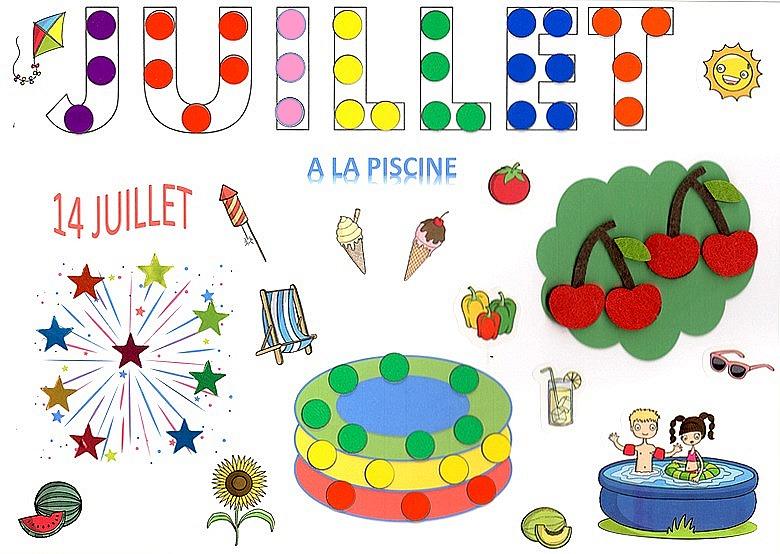 Calendrier Juillet2020.Kit Bricolage Calendrier Mensuel Juillet 2020