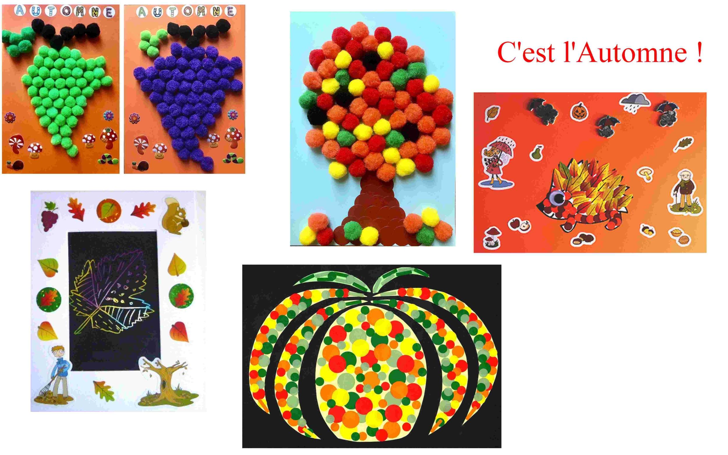 Deco D Automne Facile activités gommettes et loisirs créatifs avec les enfants!