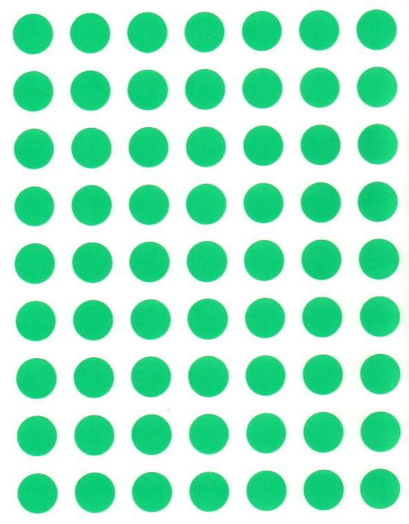 88 Gommettes rondes 10 mm Vert