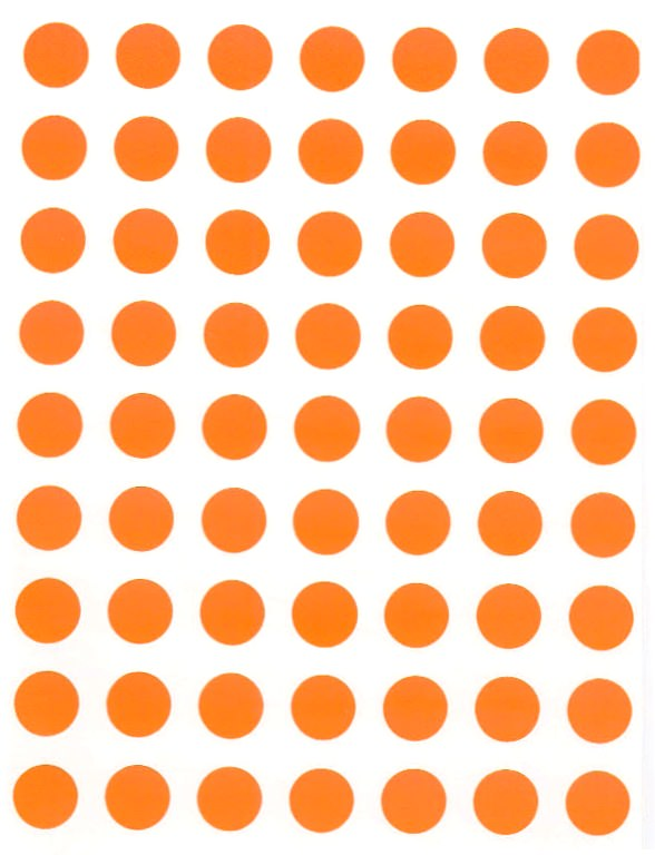 88 Gommettes rondes 10 mm Orange