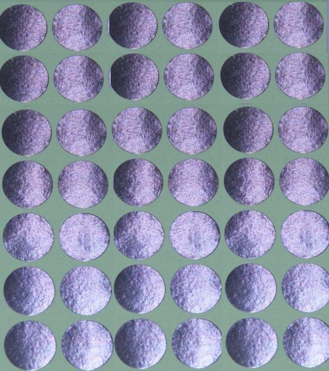 30 Gommettes rondes métallisées 19 mm Argent