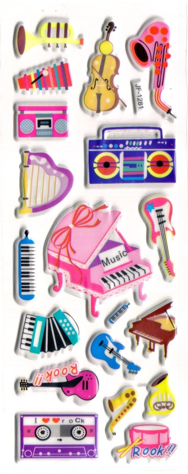 Stickers 3D Instruments de musique