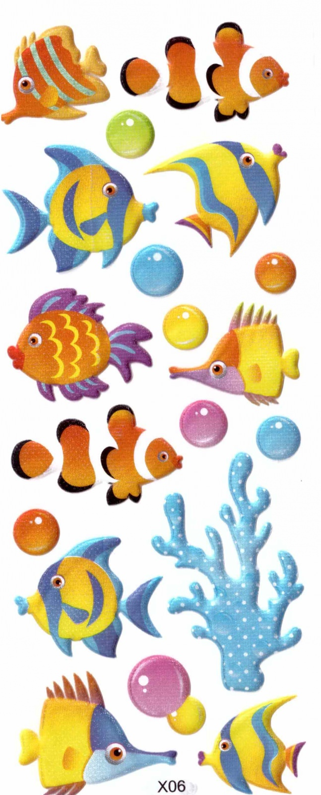 Sticker Fantaisie Poisson Paillette 3D