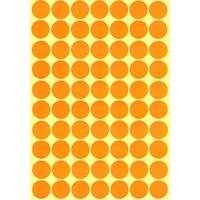 70 Gommettes Pastilles Maternelle Ronde 19mm Orange